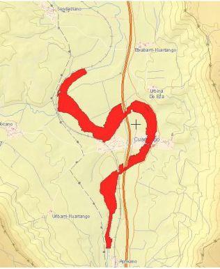 Zona inundable con periodo de retorno de 10 años
