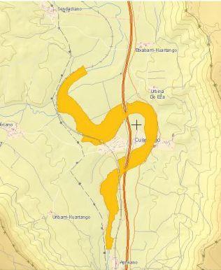 Zona inundable con periodo de retorno 100 años