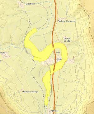 Zona inundable con periodo de retorno de 500 años
