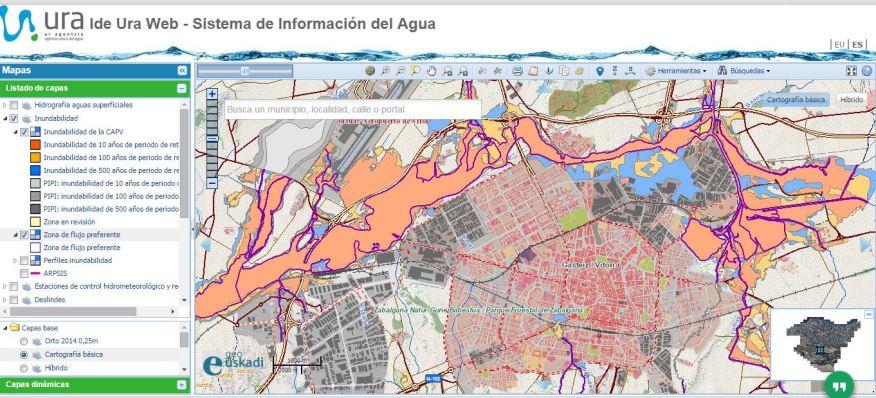 PAV-FLU mapa inundabilidad Vitoria
