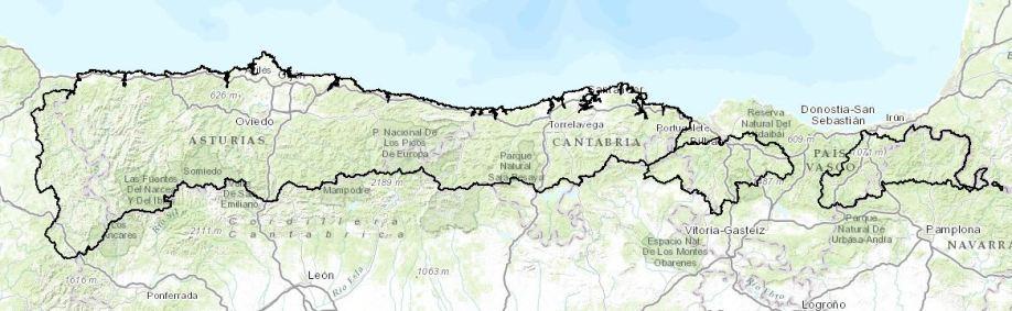 ; Mapa CH Cantábrico