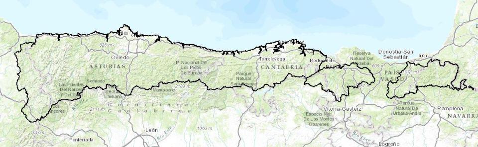 Mapa CH Cantábrico