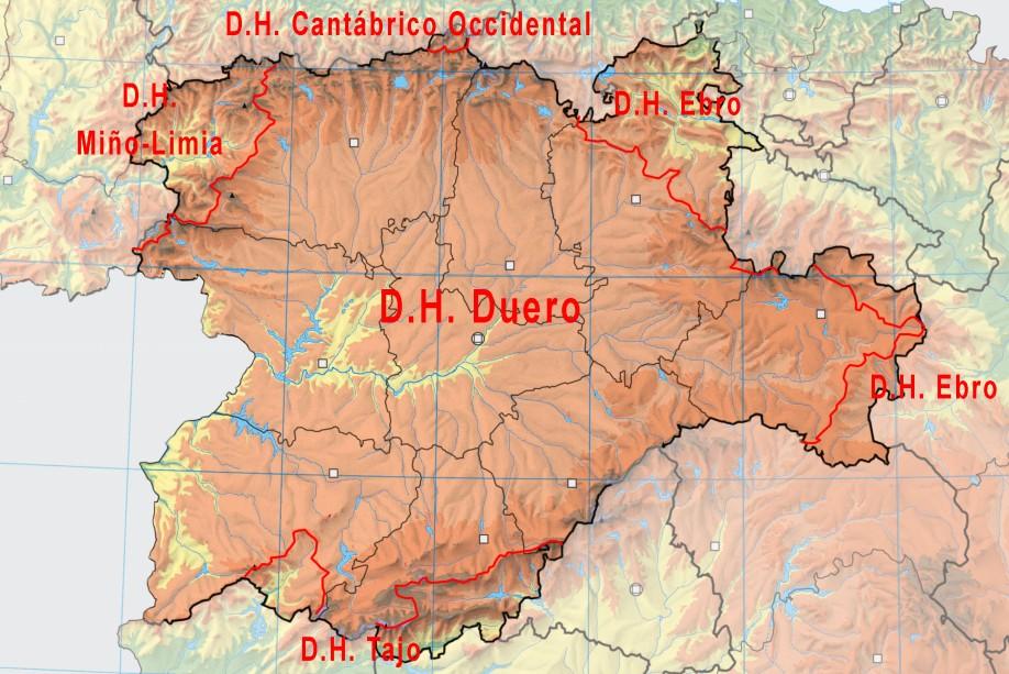 CYL-FLU mapa demarcaciones hidrográficas