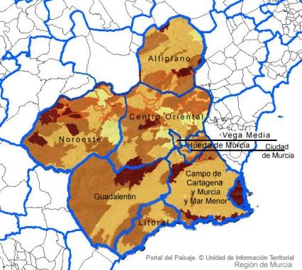 MUR-PAI las 7 áreas de paisaje