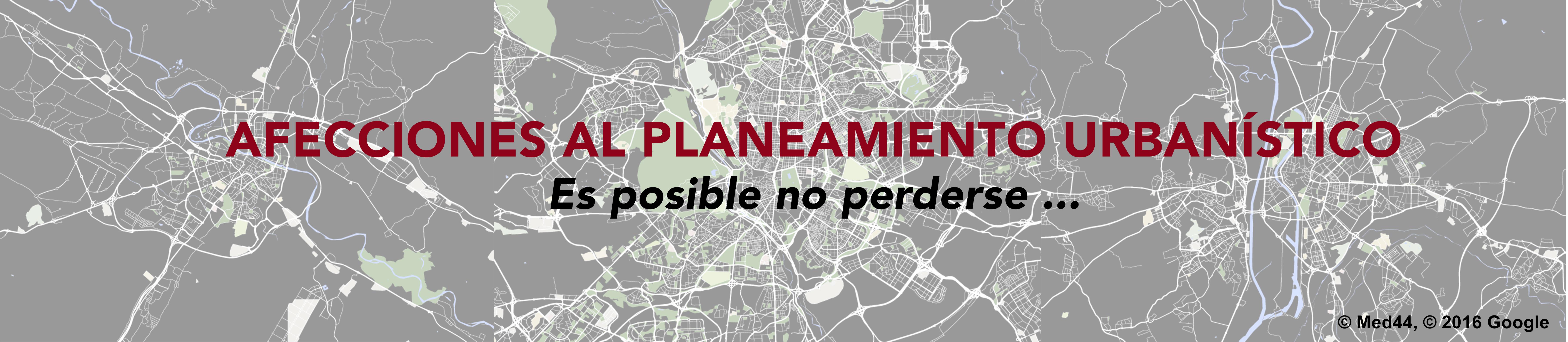 afecciones al planeamiento urbanístico